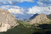 Pordoi pass, letecký pohled — Stock fotografie