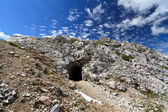 Dolomites: First world war location — Stock Photo