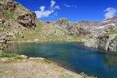 Lago nero - lago negro, itália — Foto Stock