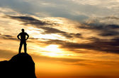 Man on top — Stock Photo