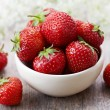 Stock Photo: Fresh red strawberries