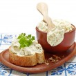 Fresh cream cheese — Stock Photo