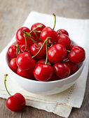 Fresh red cherries — Stock Photo