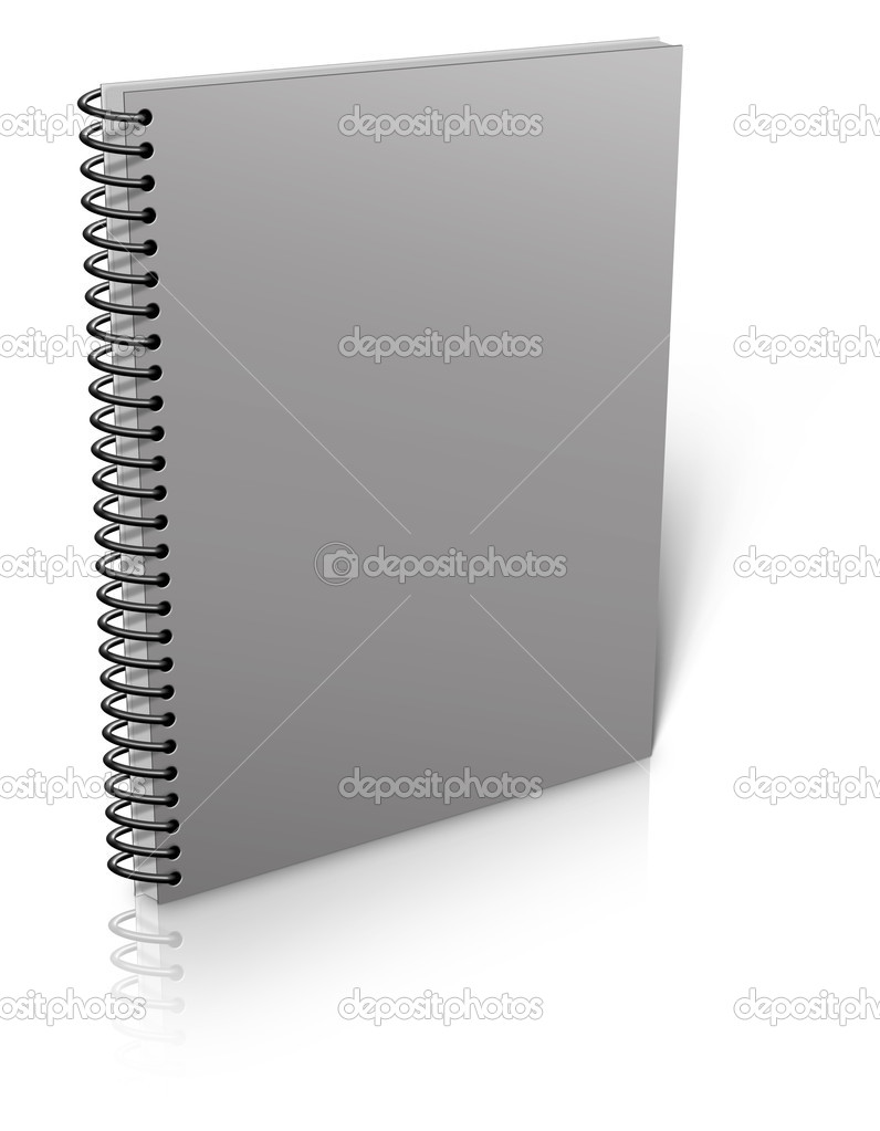 Spiral binder. Note pad with white  Stock Photo #11540247
