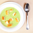 The bowl of broccoli soup — Stockfoto