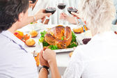 Family members giving thanks to God — Stock Photo