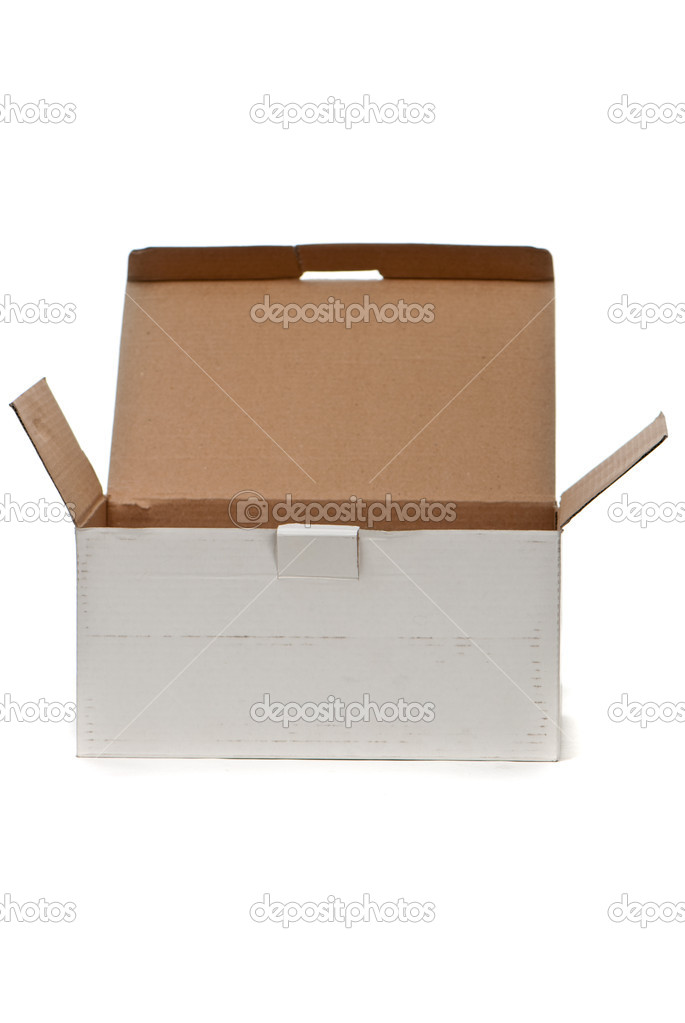 Cardboard box isolated on white background — Stock Photo #11305776
