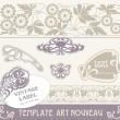 Set vectors art nouveau - lots of useful elements to embellish your layout - Stock Vector