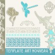 Set vectors art nouveau - lots of useful elements to embellish your layout — Stock Vector #11426847