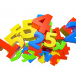 Heap of color number - Stock Photo