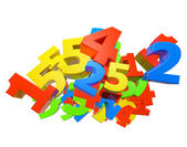 Heap of color number — Stock Photo