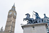 Big Ben tower clock at London, England — Stock Photo