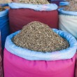 Mint sack in Marrakech souk at Morocco — Foto de Stock