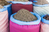 Mint sack in Marrakech souk at Morocco — Stock Photo