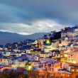 Stock Photo: Sunset on Chefchaouen blue town at Morocco