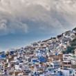 Chefchaouen blue town general view at Morocco — Stock Photo