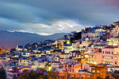Sunset on Chefchaouen blue town at Morocco — Stock Photo