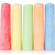 Multi colored chalk — Stock Photo
