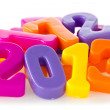 Color numbers shows year 2013 — Stock Photo