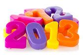 Números de colores muestran año 2013 — Foto de Stock