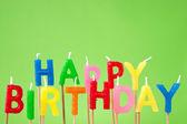 Happy Birthday candle text — Stock Photo