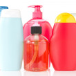 Set of cosmetic bottles — Stock Photo