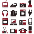 Set of icons on a theme home appliances.  — Stock Vector