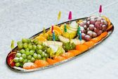 A tray of fruit — Stock Photo