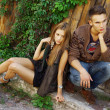 Стоковое фото: Fashion shot of trendy boy and girl