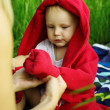 Mother and Son Having Fun in Nature — Stock Photo #11743421