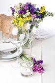Configuração de mesa festiva — Foto Stock
