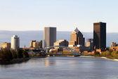 Rochester new yorks skyline — Stockfoto