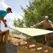 Carpenters With Plywood — Stock Photo #11075012