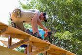 Carpenters Nail Plywood — Stock Photo