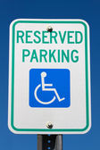 Disabled Reserved Parking Sign — Stock Photo