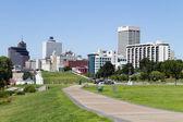 Memphis Park Downtown Skyline — Stock Photo