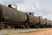 Railroad Tank Cars — Stock Photo