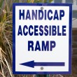 Stock Photo: Handicap Ramp Sign