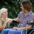 Caregiver With Patient — Stock Photo