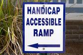 Handicap schans teken — Stockfoto