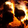 Royalty-Free Stock Photo: Burning campfire