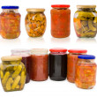 Homemade pickles and preserves - set — Stock Photo