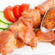 Shish kebab, prepared food - Stock Photo