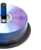 新的 dvd 光盘 — 图库照片