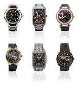 Set of mens watches — Stock Photo