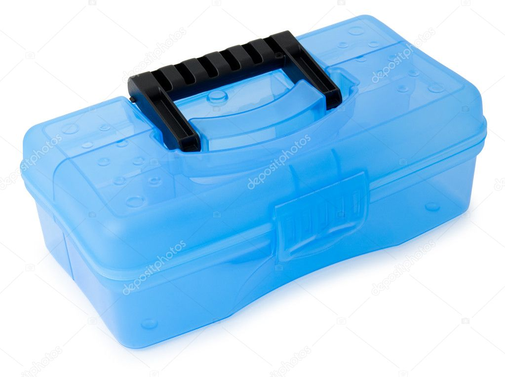 A new plastic box for tools, over white — Stok fotoğraf #11128857