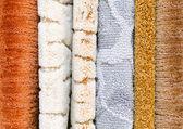 Vloer tapijt monsters — Stockfoto