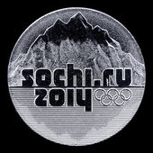 Coin sochi ru 2014 — Stock Photo