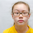 Teenage girl in glasses - Stock Photo