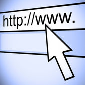 URL of web browser — Stock Photo